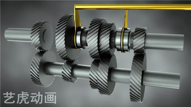 机械齿轮动画