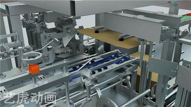 三维机械生产线动画