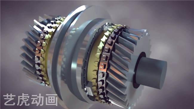 机械齿轮动画制作