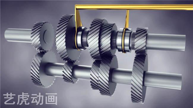 机械齿轮三维动画立体图