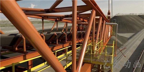 重工业建设交通运输铁路扩建工程施工动画 (1)