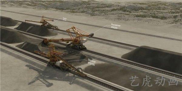 重工业建设交通运输铁路扩建工程施工动画 (2)