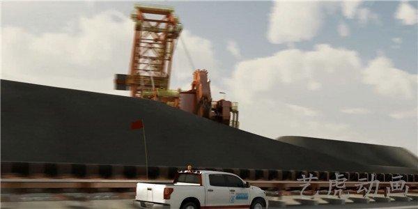 重工业建设交通运输铁路扩建工程施工动画 (3)