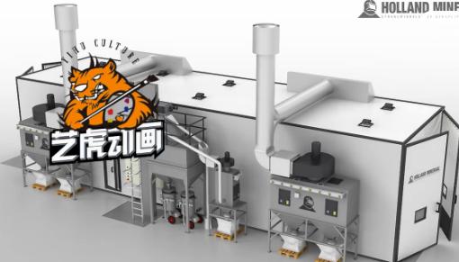 工厂生产工艺流程动画